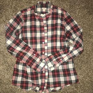 J. Crew plaid collared shirt